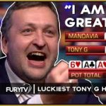 Top 5 Luckiest TONY G Poker Hands of ALL TIME!