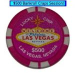$500 Bankroll, a real craps session!