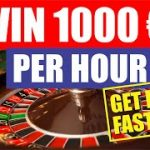 ROULETTE STRATEGY – Never Lose Again! SMART & SAFE 2019 – $1000 in a few MINUTES