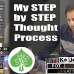 My Step by Step Thought Process in Poker (high stakes cash game @ Live at the BIke)