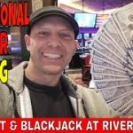 Professional Gambler Baccarat & Blackjack $820 Profit Using Martingale System At Rivers Casino.