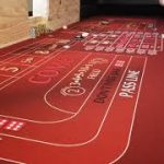 My new underlayment on my homemade craps table.