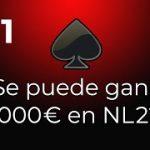 BANKROLL CHALLENGE | Voy a ganar 1000€ en NL2 #11 | ZOOM POKERSTARS