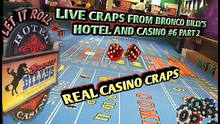 Craps Real Live Casino #6 PART 2 – Up and down session