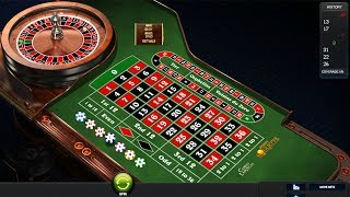 Small target,Small bet & win in casino roulette.