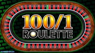 100 to 1 Roulette – £40+ BETTING – FOBT Roulette