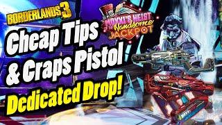 Cheap Tips & Craps Dedicated Drop Location!   Borderlands 3 DLC 1 Moxxi's Heist (Casino Chips SMG)