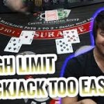 BLACKJACK IS EASY – BIGGEST BLACKJACK WIN – Live Session