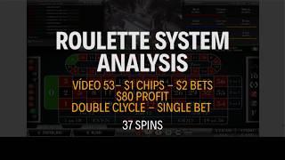 STRATEGY APPLICATION – $1 Chips – $2 Bets – $80 Profit – Vídeo 53 – Roulette System Analysis