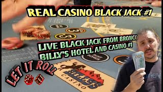 Black Jack Real Live Casino – Not a bad win for a rookie!