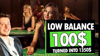 Baccarat 100$ to 1350$ – LOW BALANCE? NOPE :) Baccarat XL