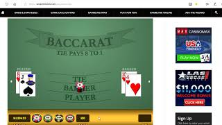 Baccarat Chi Wining Strategies with Money Management 11/27/18