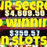 Four Secrets To Winning on Slot Machines