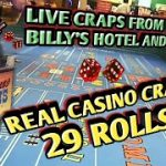 Craps Real Live Casino #4- Had a few bad rolls and a 29 roll – Made a few dollars!