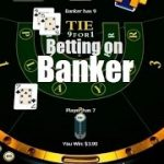 Baccarat strategy on the Banker, and bets double as betting system to win.