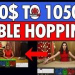 Baccarat 'TABLE HOPPING' 400$ to 1050$