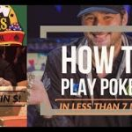Learn Texas Holdem Poker in Less than 7 Min! How To Play Texas Hold Em – Basic Beginner's Strategy