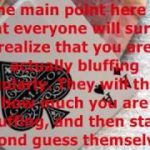 Texas Hold Em Poker TipsAnd Tricks For Easy Bluffing Success