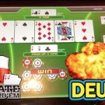 ✨Quads! Four-of-a-kind. 💵Poker Ultimate Texas Hold'em, UTH @ Resorts World Casino NYC