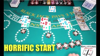 Stuck in a Hole, Can we CLIMB Out? | Blackjack Tips & Tricks
