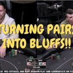 Turning Pairs into Bluffs (Poker Strategy)
