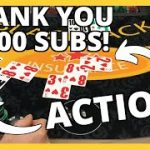 LOTS OF BLACKJACK ACTION! Thank You For 1000 SUBSCRIBERS!!!
