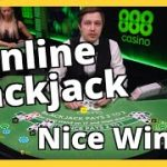 FUN ONLINE BLACKJACK SESSION! NICE WIN!