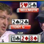 Phil Hellmuth vs. Tony G: 6 memorable poker hands!
