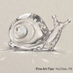 How to Draw a Crystal Snail – Baccarat Style – Narrated