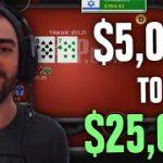 Poker Pro Turning $5,000 Into $25,000! (Day 1)