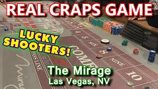 LUCKY LADY ROLLS 21 TIMES! – Live Craps Game #45 – The Mirage, Las Vegas, NV – Inside the Casino