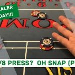 CRAPS DEALER TRAINING – TIPS AND TRICKS – SNAP PRESSING THE SIX AND 8 – BETWEEN ROLLS / LATE PRESSES