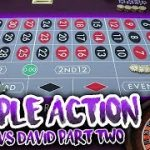 $30,000 Bet!! LIVE ROULETTE BATTLE – Timmy Vs. David