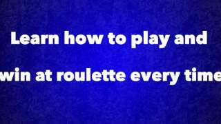 Winning A Million Dollars Playing Roulette! Best Gambling System Ever Made!