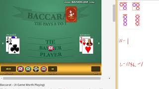 Baccarat – Safe strategy, $40 bankroll, Long playing – PART 1