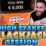 High Stakes Blackjack Session – Winning Big With Momentum Strategy