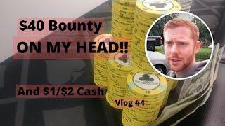 $40 Bounty on MY HEAD!! – Poker Tournament Vlog – Poker Vlog 2019 Ep 4 – Poker Vlog 1/2