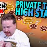 Private Blackjack – HIGH STAKES with Momentum Strategy!