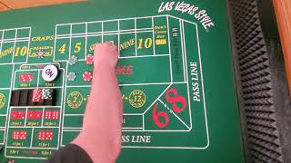 Craps strategy. Iron Cross with regression