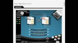 Baccarat Strategy for Everyone $100 USD in 20 minutes!