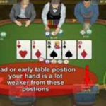 Position in Texas hold em. Texas hold em table position.