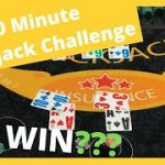 10 Minute Blackjack Challenge – How much can we win?