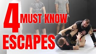 4 MUST KNOW Escapes For MMA and Self Defense