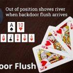 Poker Strategy: Out of position shoves river when backdoor flush arrives