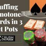 (Poker Strategy) Bluffing Monotone Boards in 3 Bet Pots