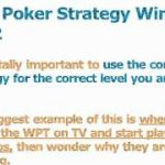 Texas Poker Strategy – 3 Tips To A Winning Strategy