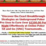 Sit N Go Pro – *Proven* Poker Strategy To Make $1200 Daily!