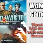 Poker Player Wolverine Plays World War II Eastern Front 1942 tips GENERAL level with live Commentary