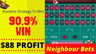 Roulette Win By Neighbour Bets | Best Roulette Strategy to Win 2020 | Roulette Tricks Win Every time