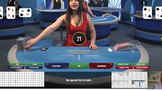 "Baccarat Winning Strategy.. ""LIVE PLAY "" By Gambling Chi .. 9/6/2020"